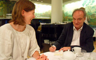 With Rebecca Carter (Harvill Secker / Random House), London, August 2010
